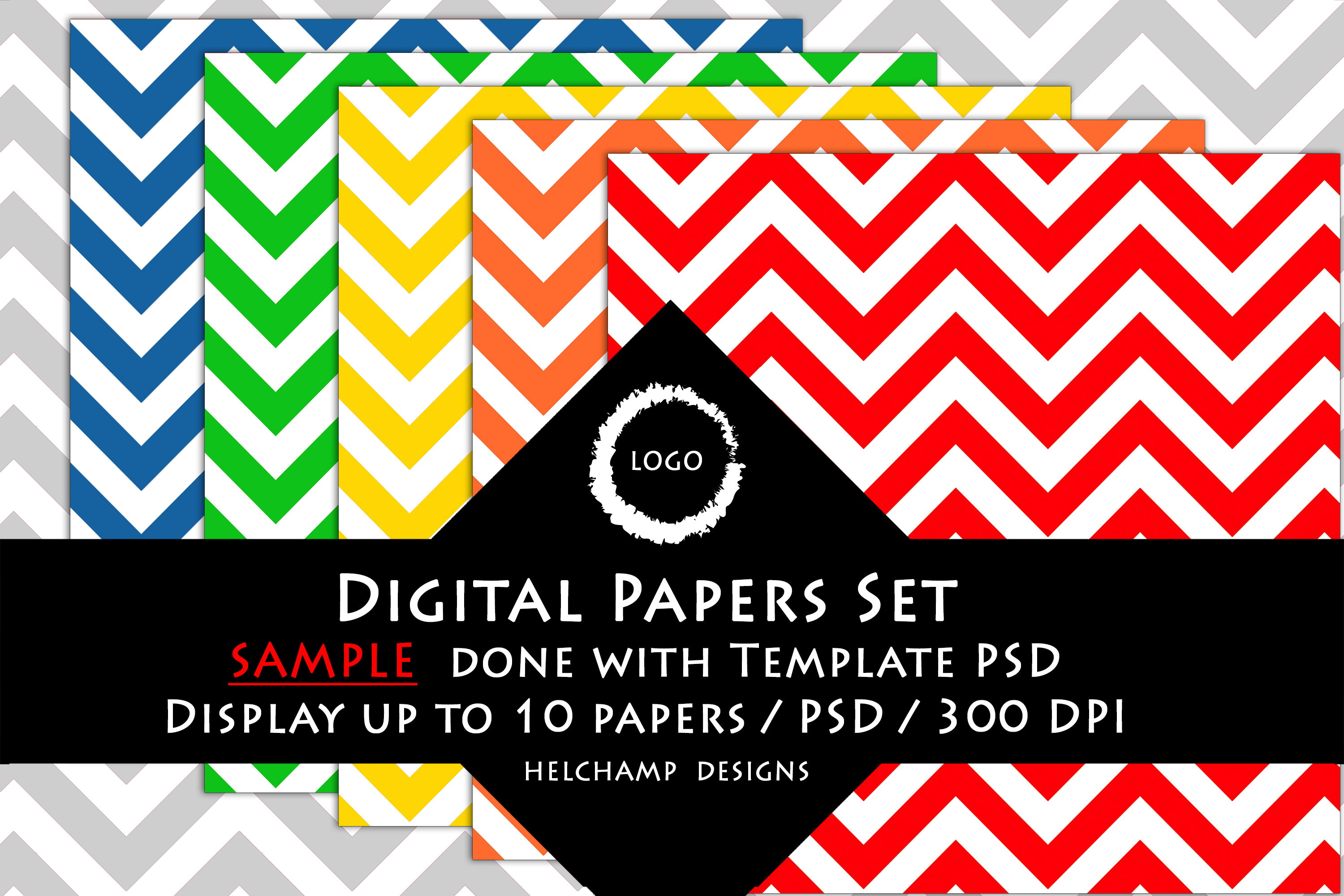 1 to 10 Panels Mockup for Digital Papers - M04 example image 5