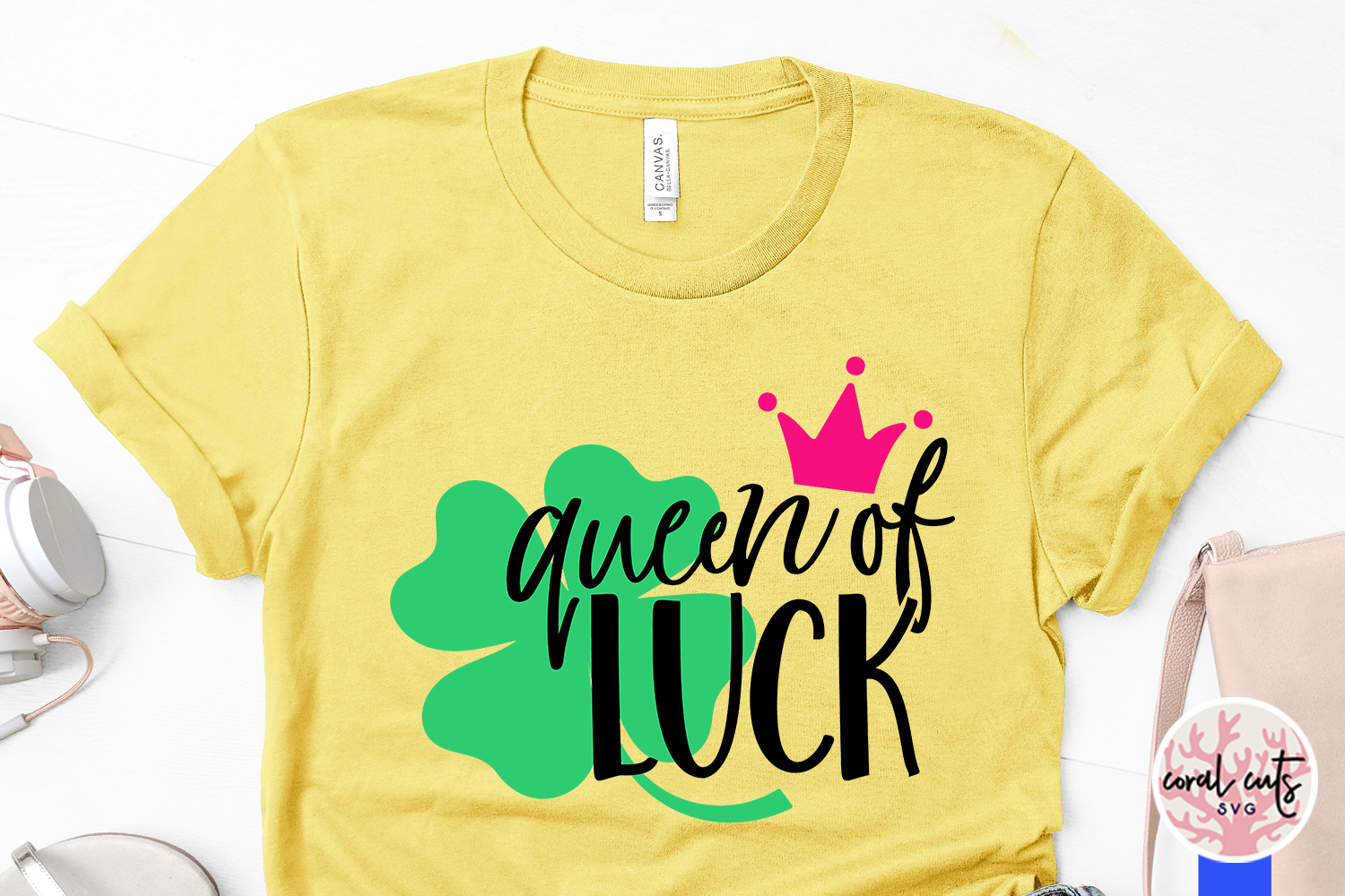 Queen of luck - St. Patrick's Day SVG EPS DXF PNG example image 3
