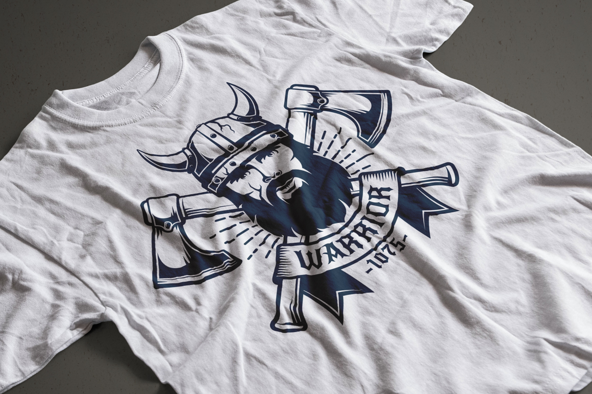 Viking Warrior Logo Template example image 4