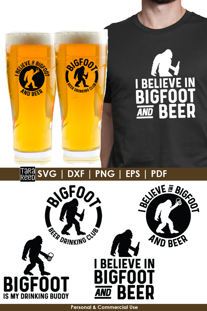 Bigfoot Beer Drinking Club - Bigfoot SVG and Cut Files example image 2