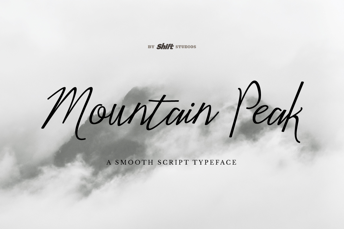 Mountain Peak Typeface example image 1