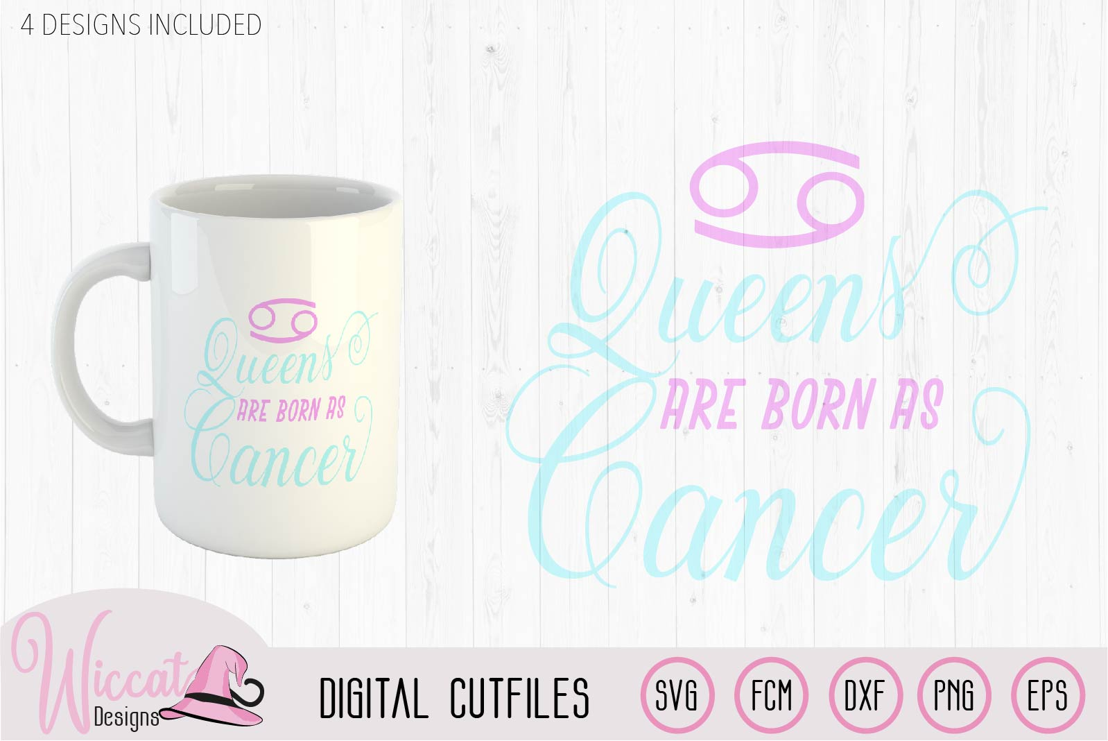 Cancer Zodiac quote svg, Queens are born as svg, word art example image 2