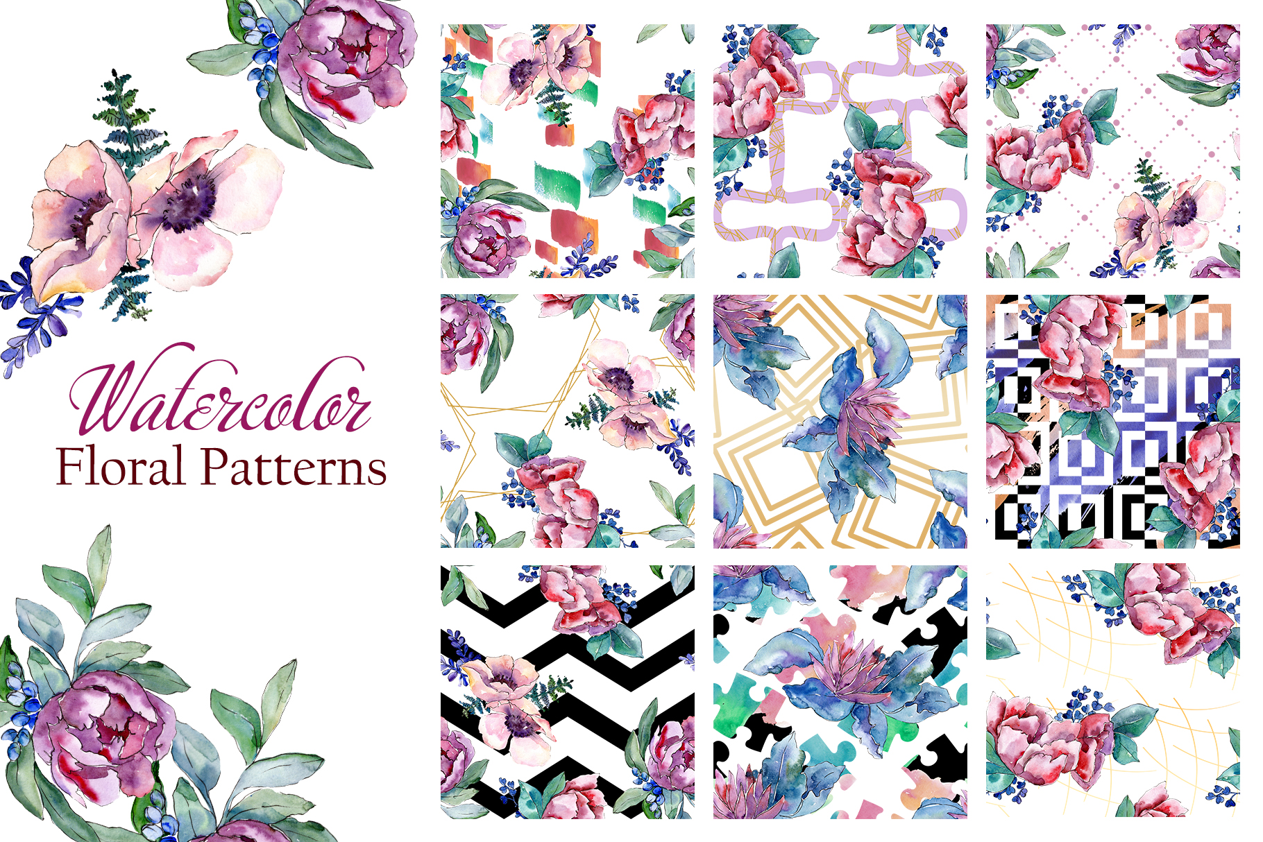Bouquets with peonies Phuket Watercolor png example image 4