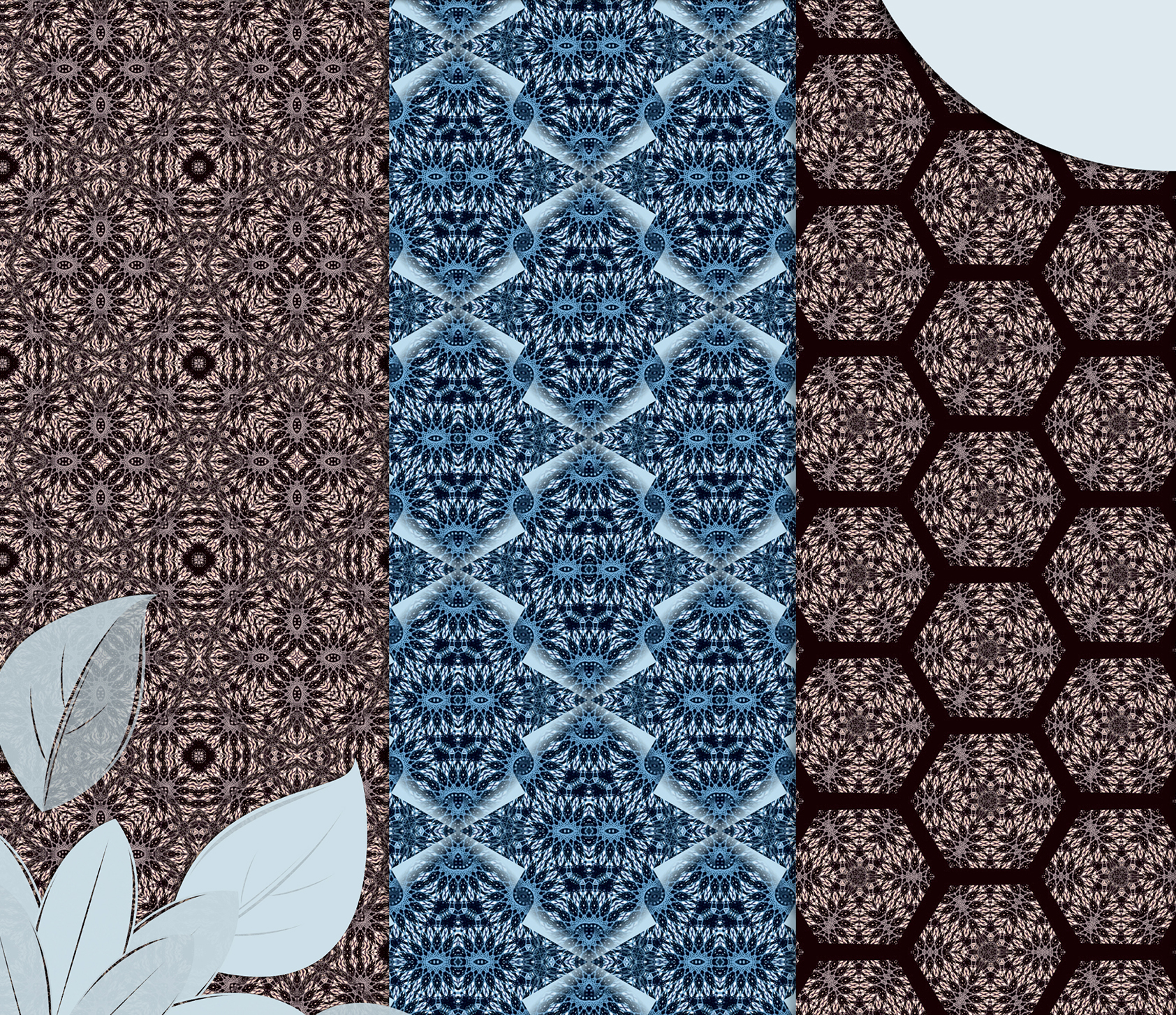 Beige and blue abstract, knitted patterns, Scrapbook Paper example image 3