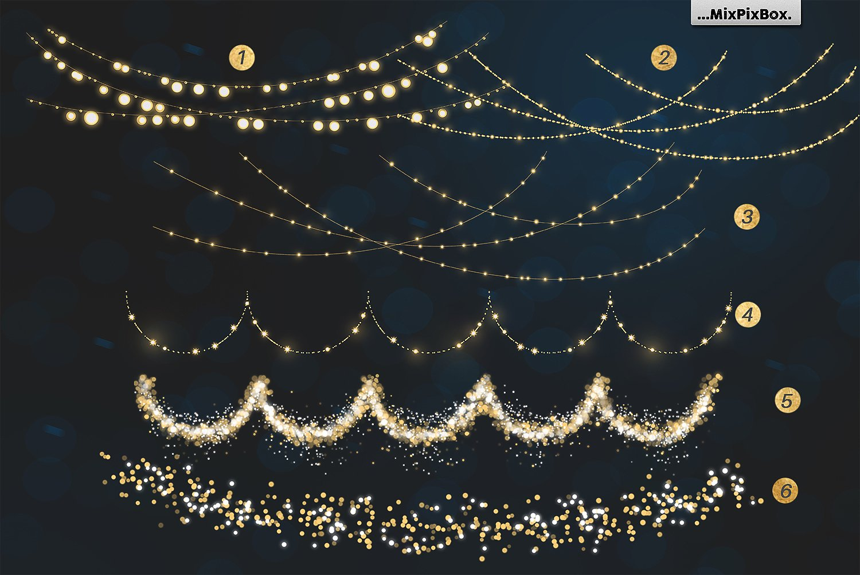 Christmas Lights Golden Glow example image 5