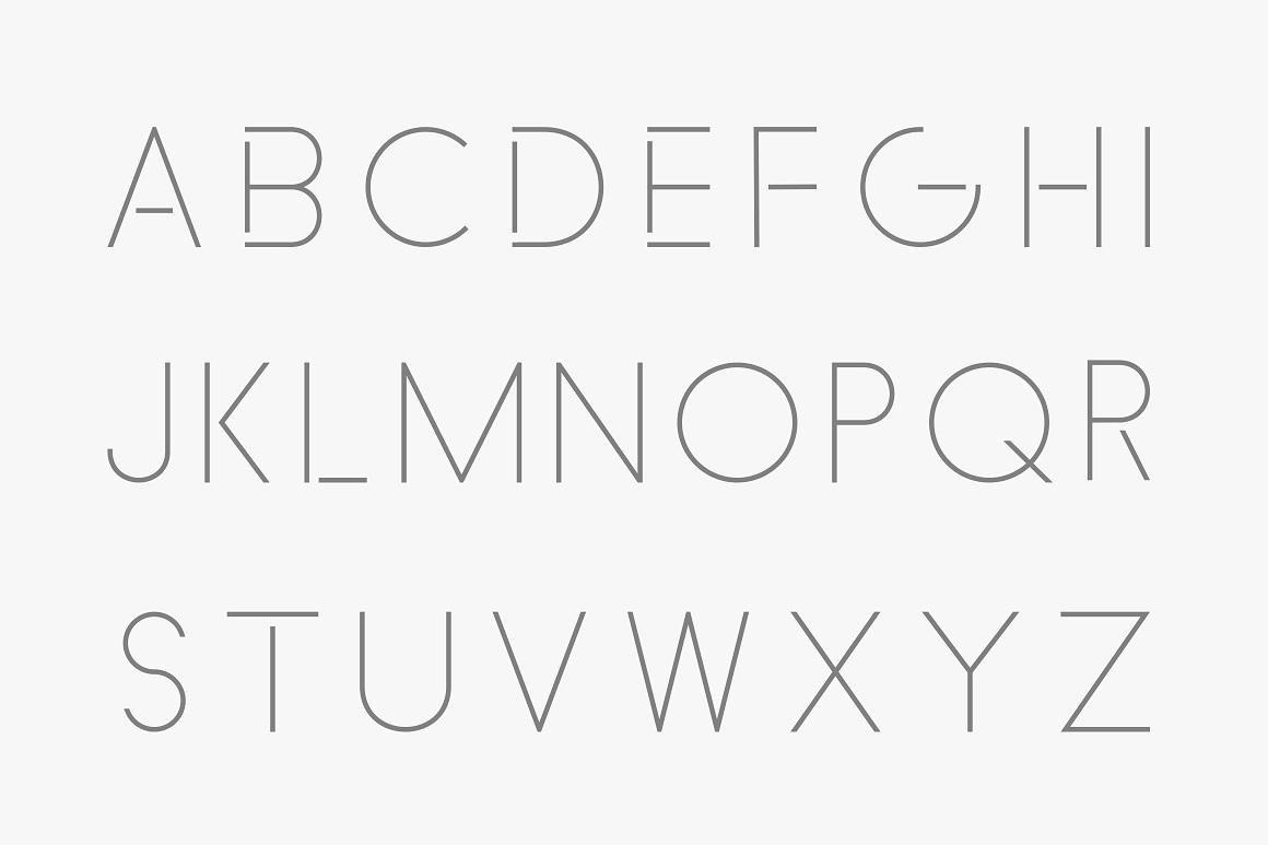 Minimalistic font - english alphabet example image 5