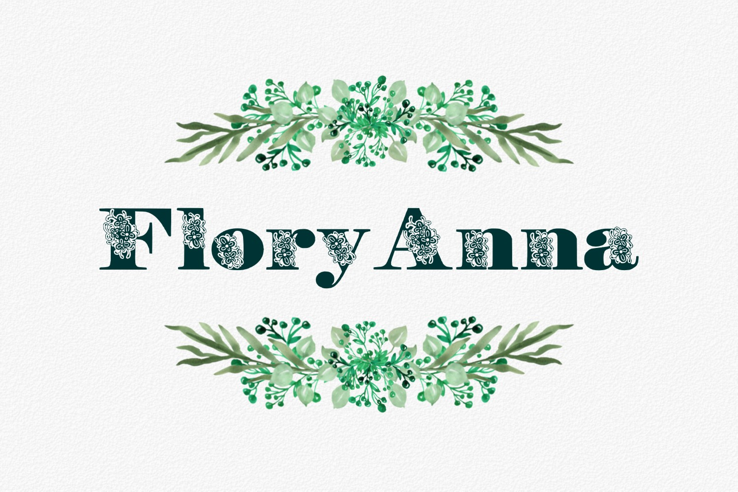 FloryAnna Font example image 1