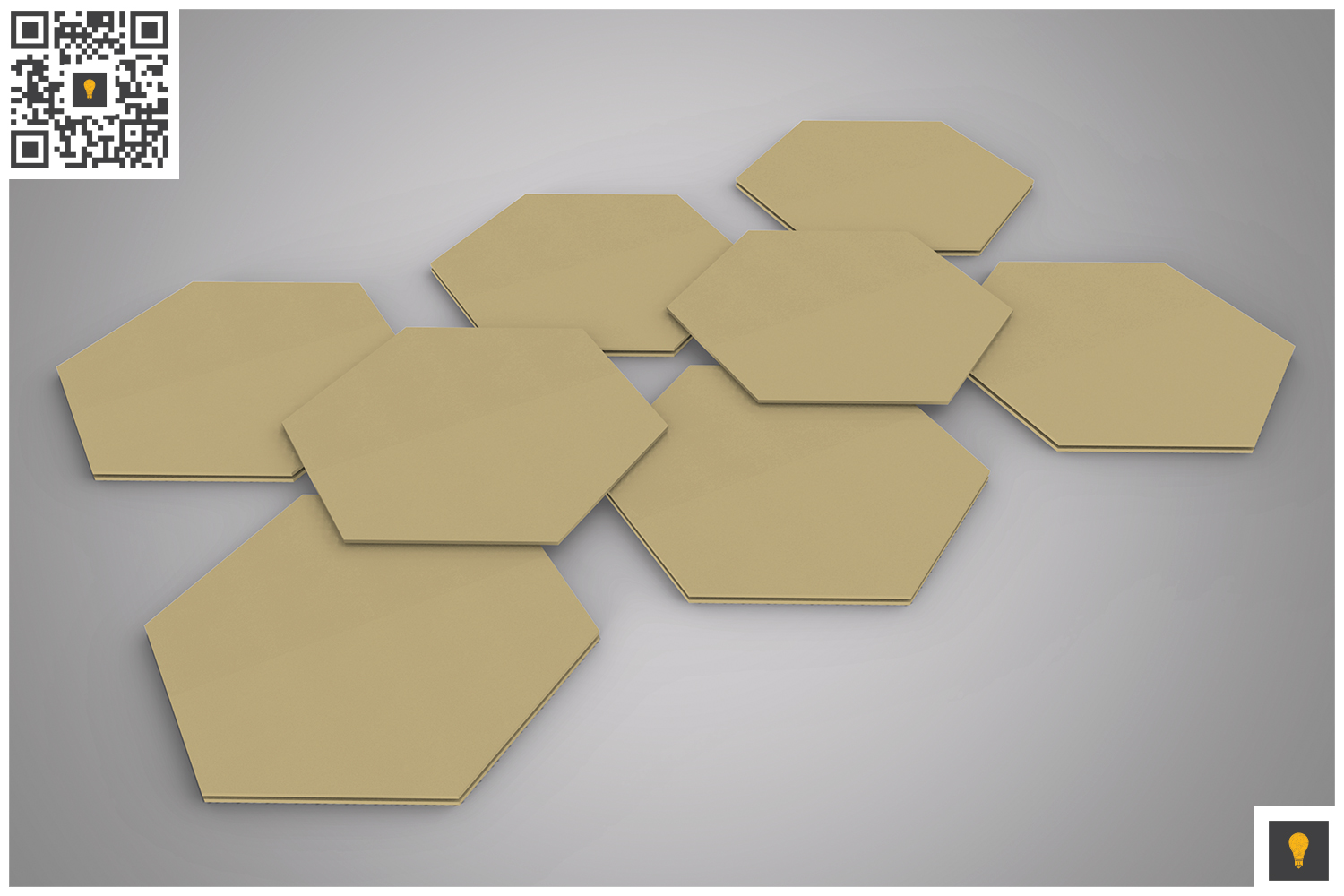 Paper Coaster 3D Render example image 5