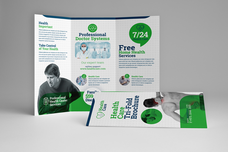Health Professional Trifold Brochure Template example image 1