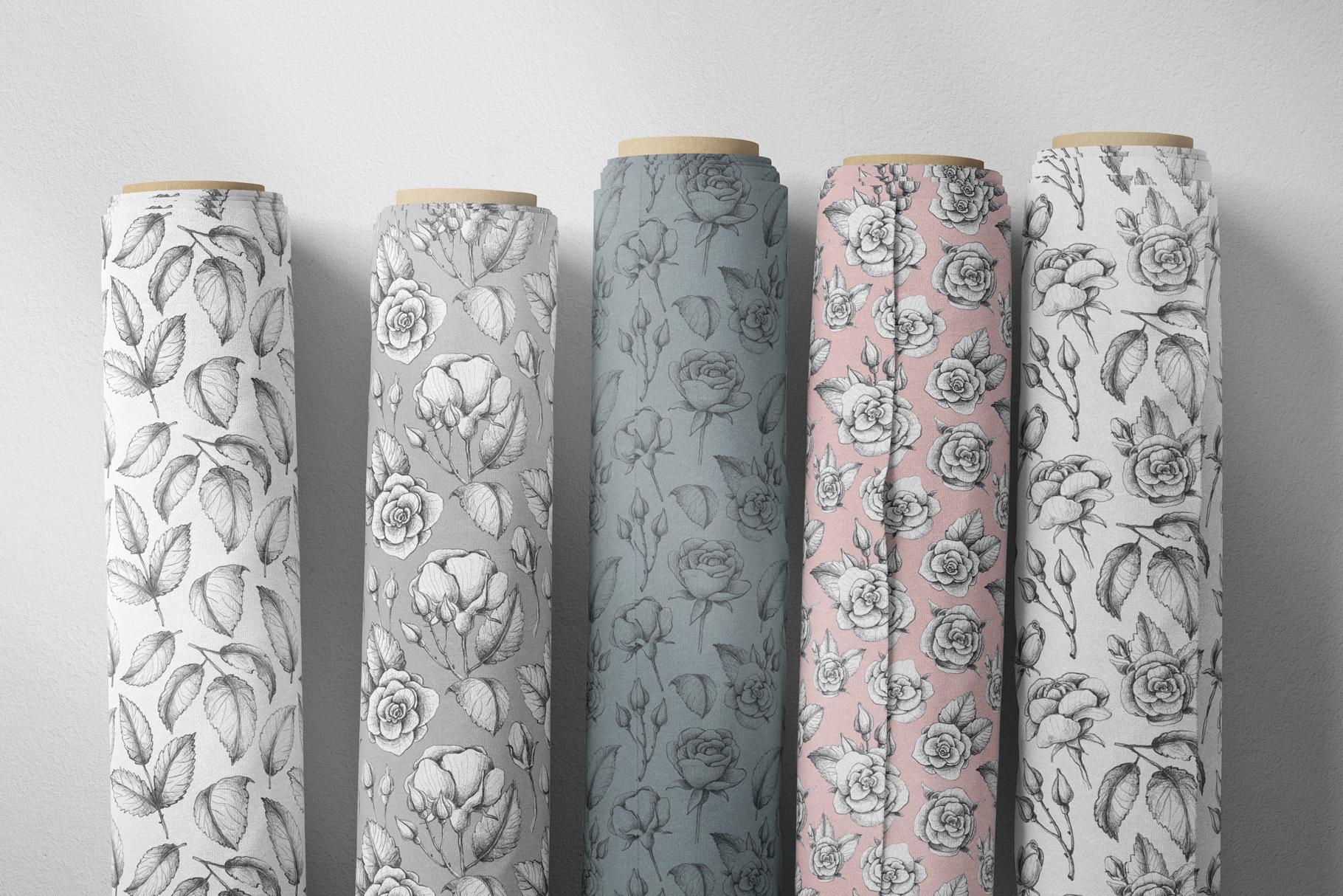 Sketched roses, patterns, frames example image 8