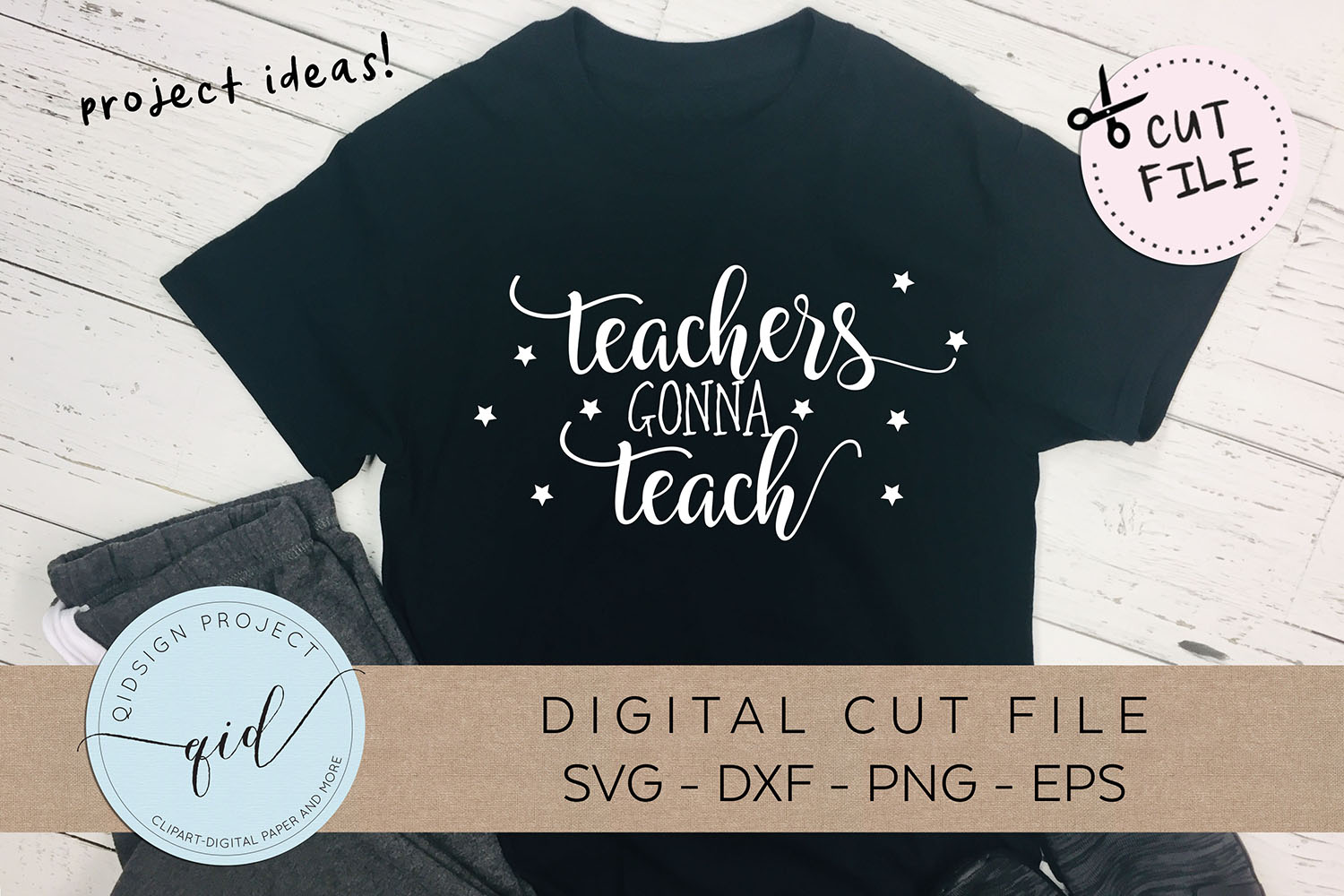Teachers gonna teach SVG DXF PNG EPS example image 1