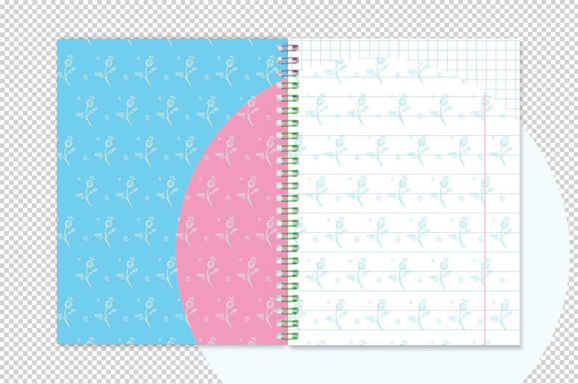Notebook with spring mockup. Sketchbook mockup. example image 7