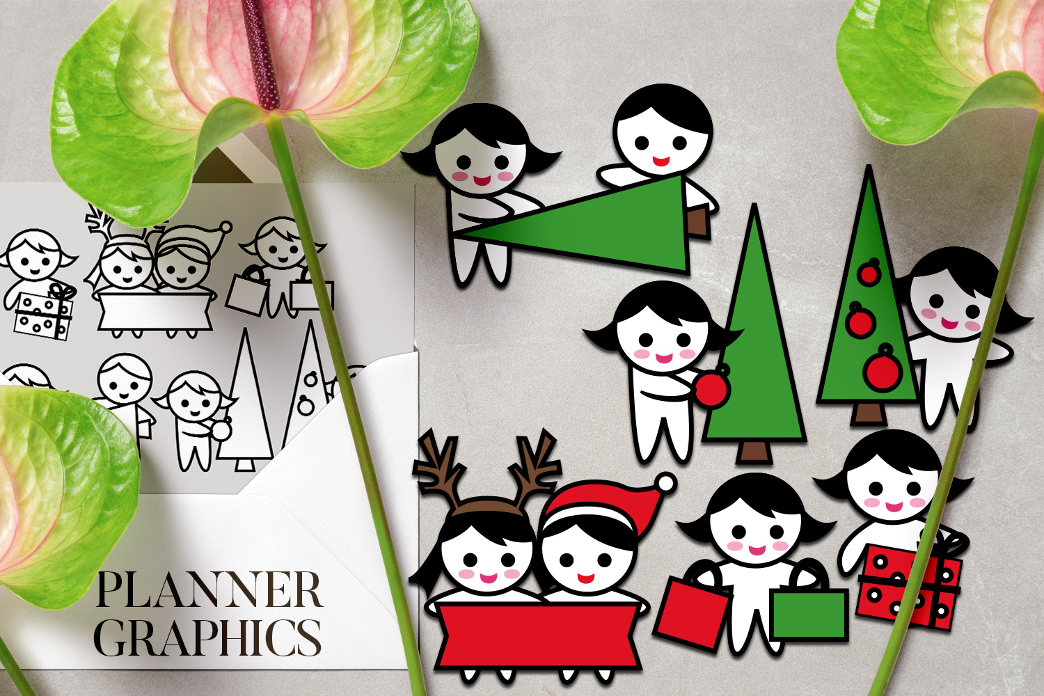 Holidays Bundle - Planner Graphic Illustrations example image 3