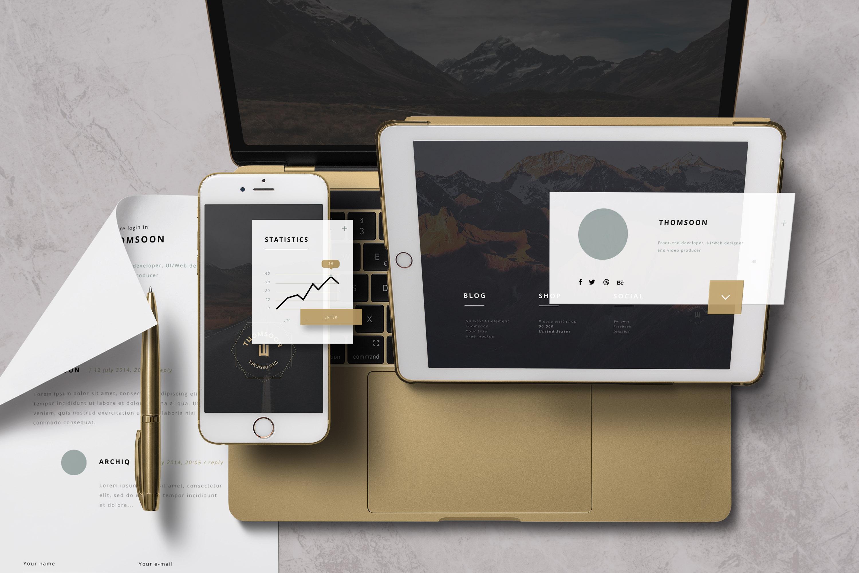 App / UI Kit Mockups example image 3