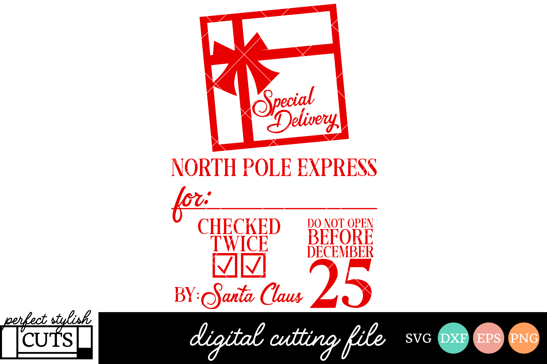 Santa Sack Svg Christmas Svg North Pole Express Svg File