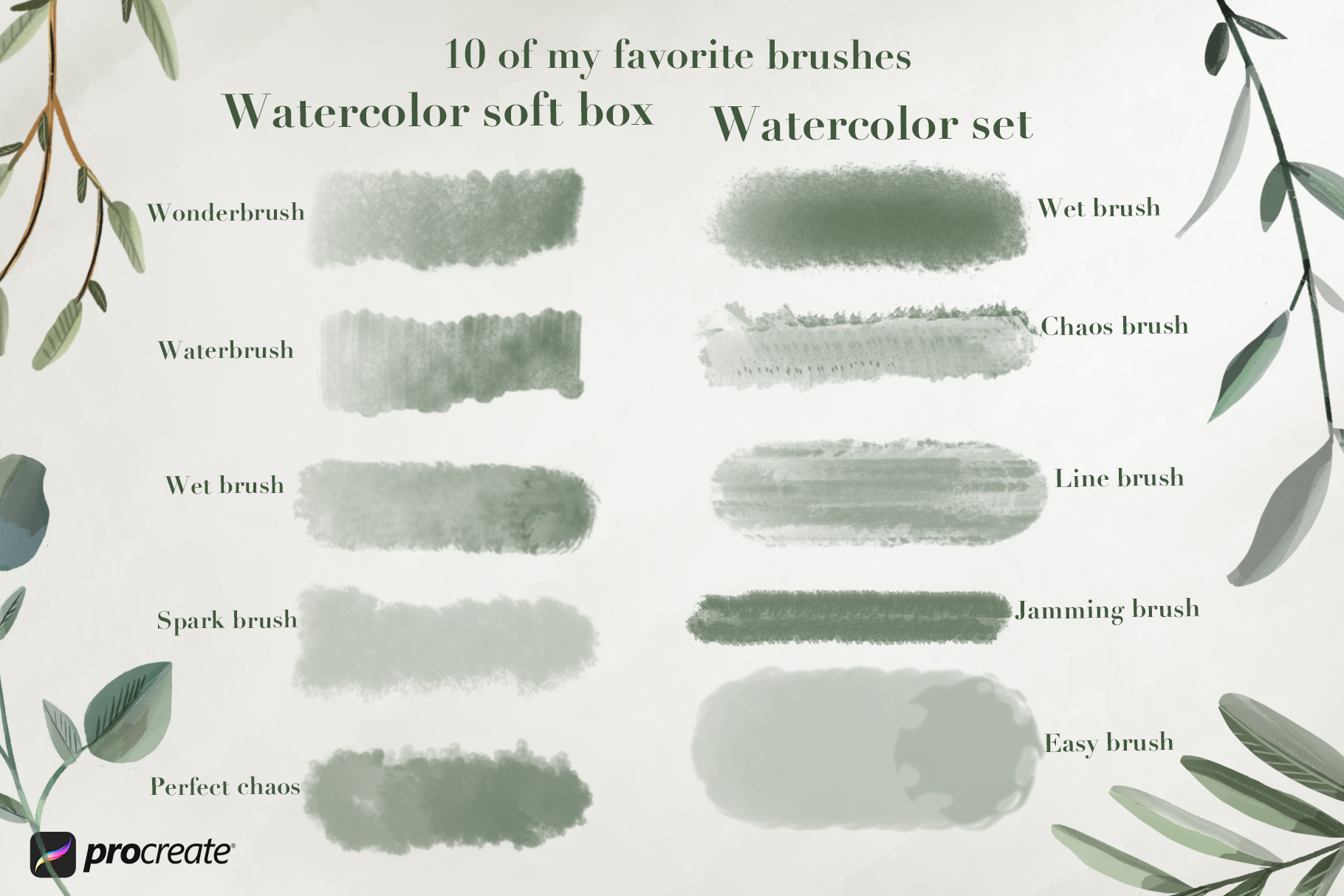 Aqua Studio Watercolor brushes example image 3