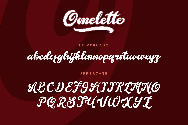 Omelette Script Font example image 5