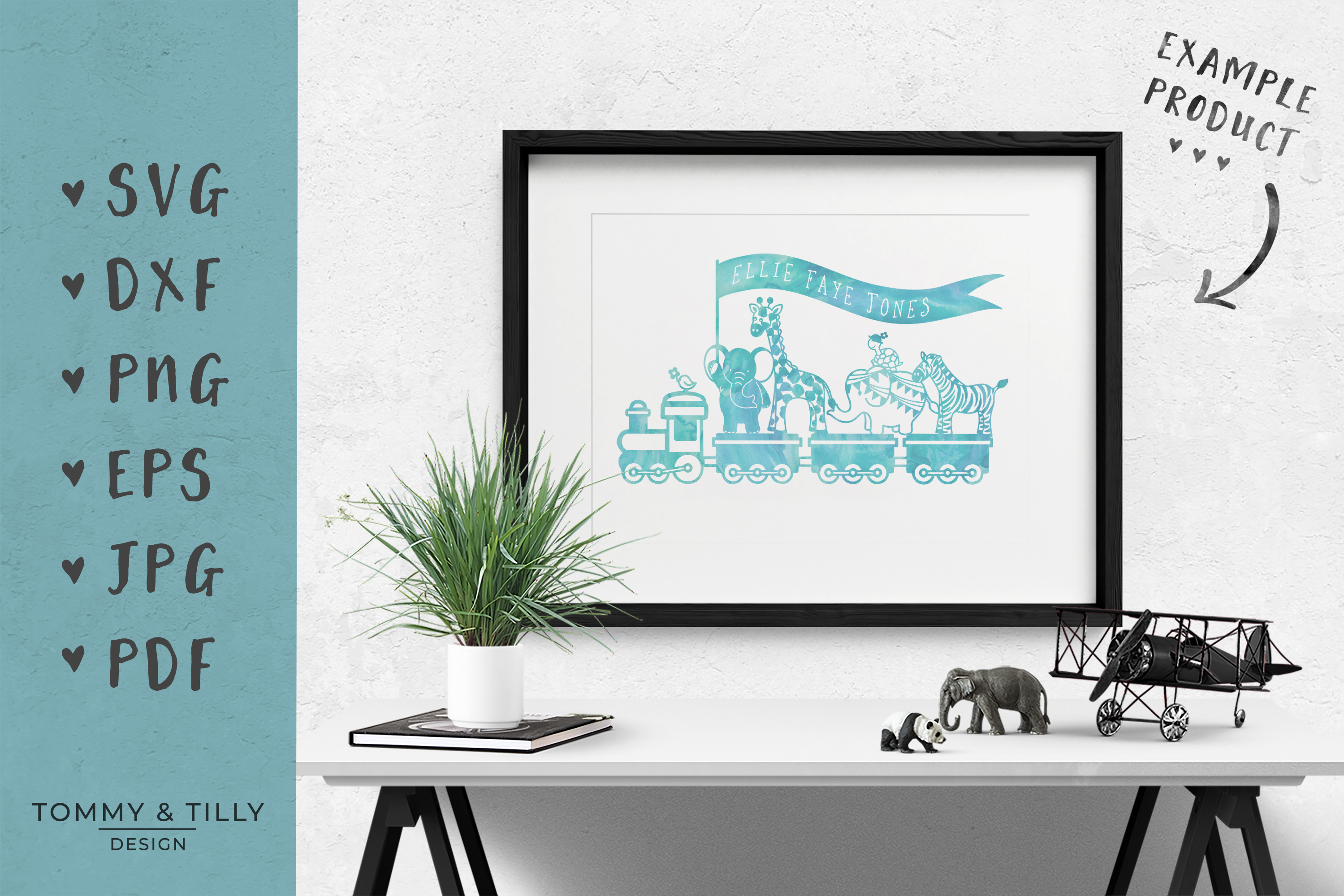 Animal Train - SVG DXF PNG EPS JPG PDF Cutting File example image 5