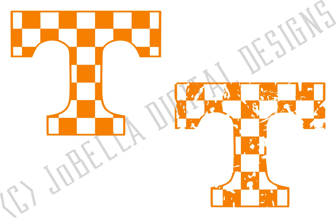 Checkered Tennessee T SVG and Printable Design Bundle example image 4