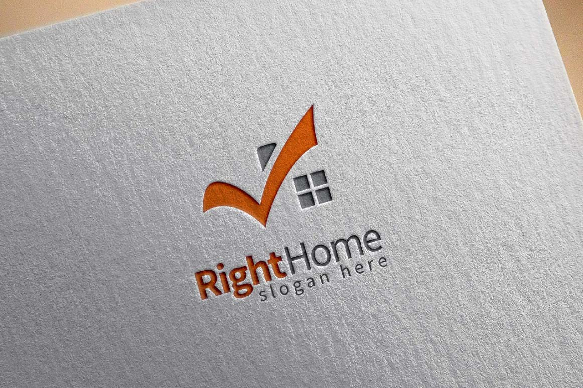 Real estate logo,check home, house logo example image 3