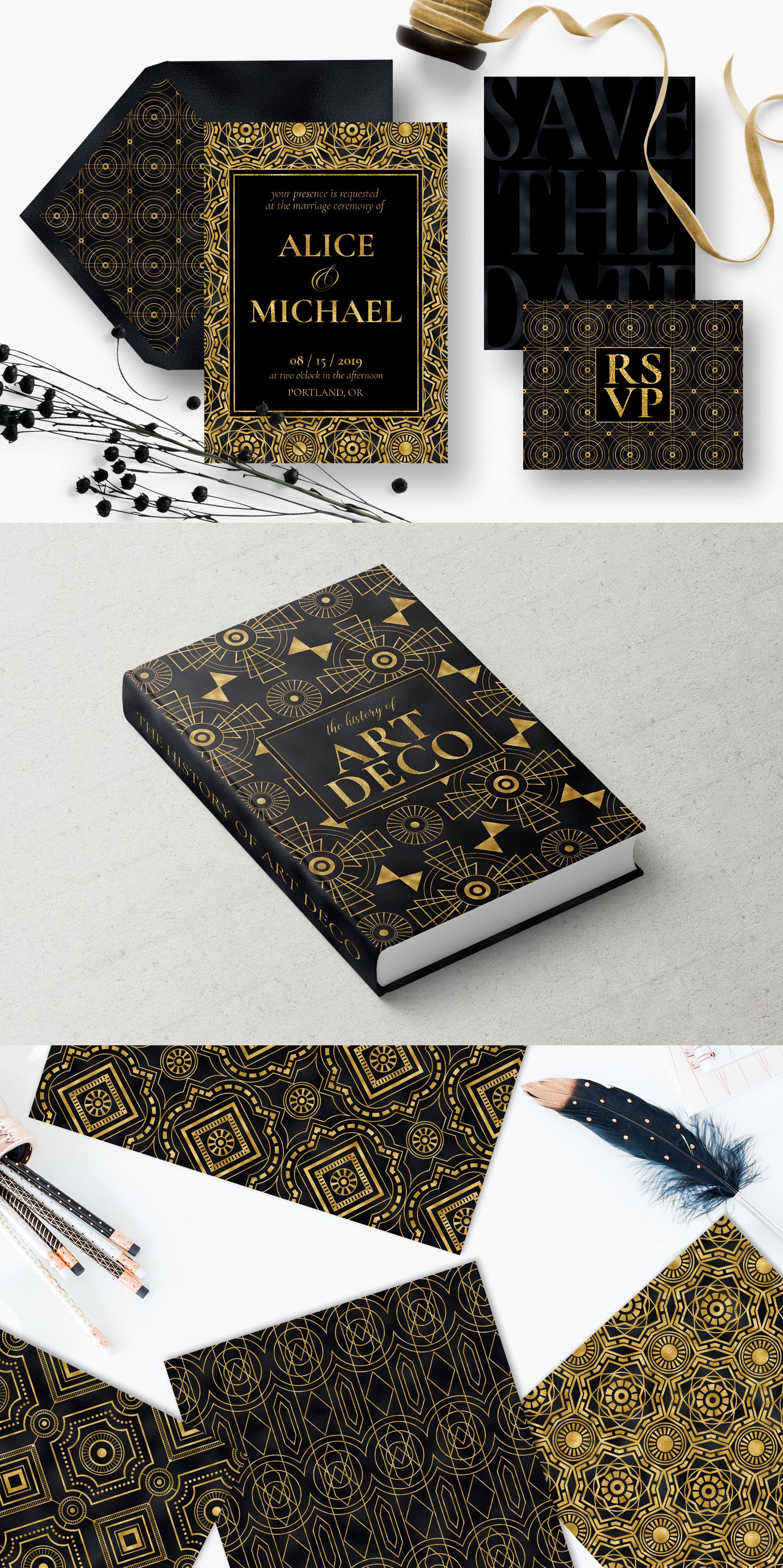 Noir - Patterns & Textures Bundle example image 3