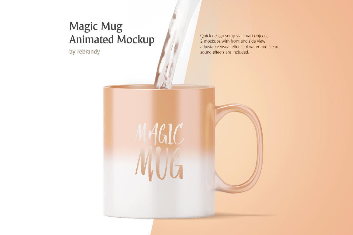 Magic Mug Animated Mock up example image 1