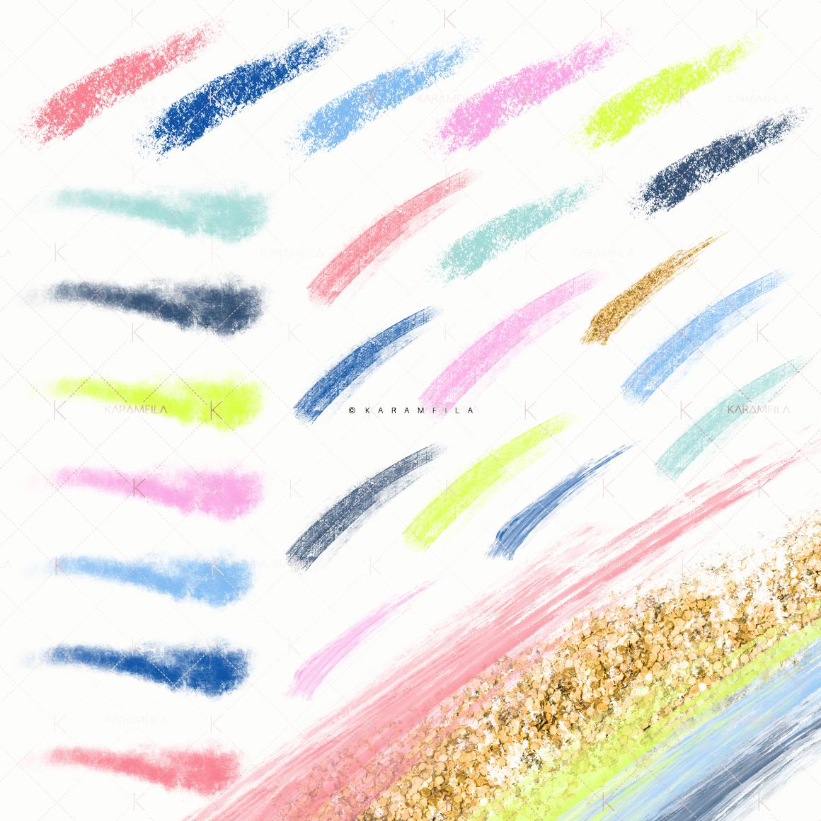 Neon Brush Stroke Clipart example image 2