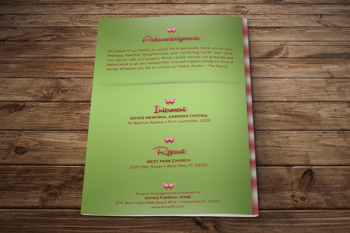 Child Funeral Program Template Photoshop example image 4