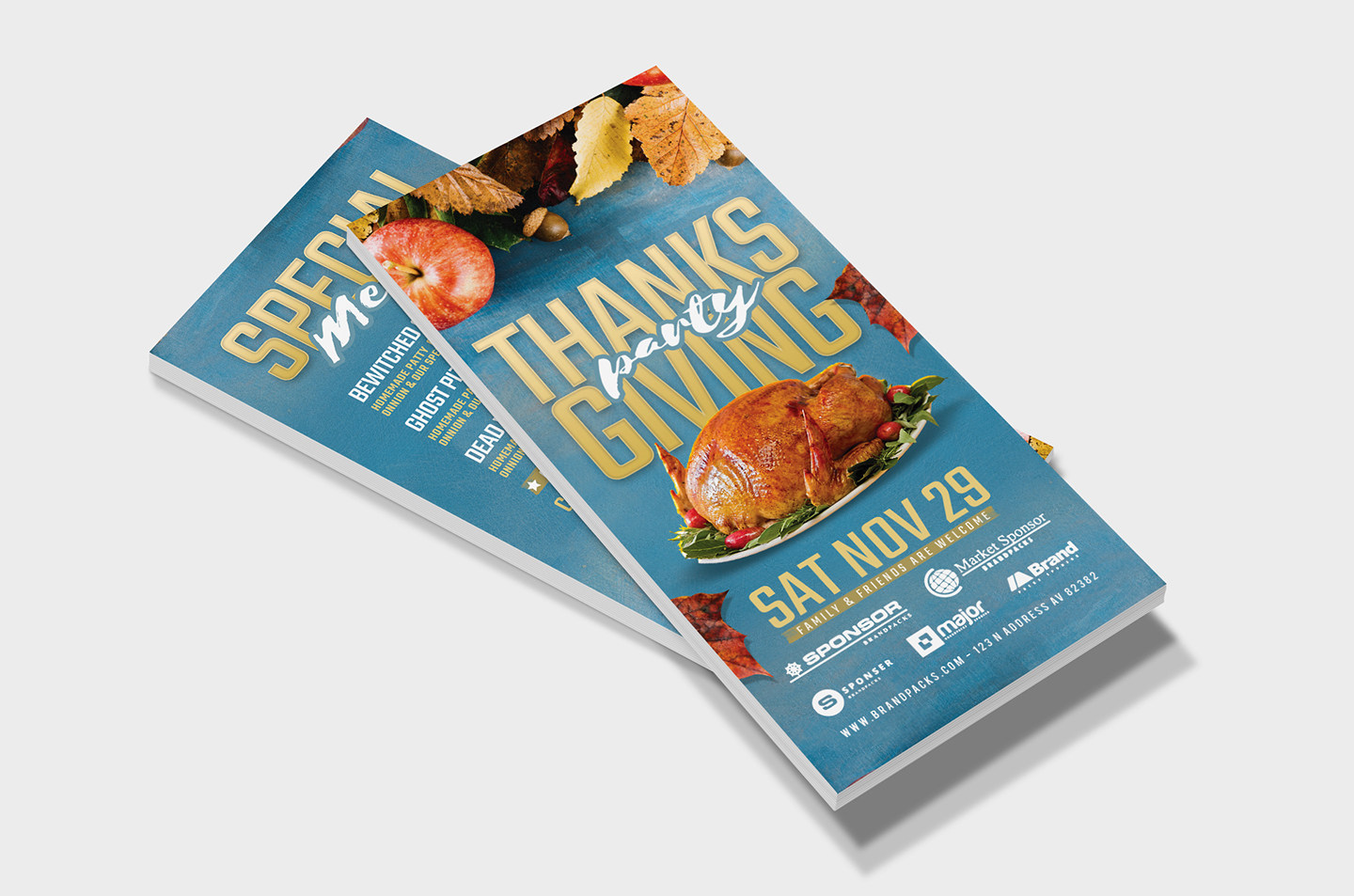 Thanksgiving Flyer Template example image 10