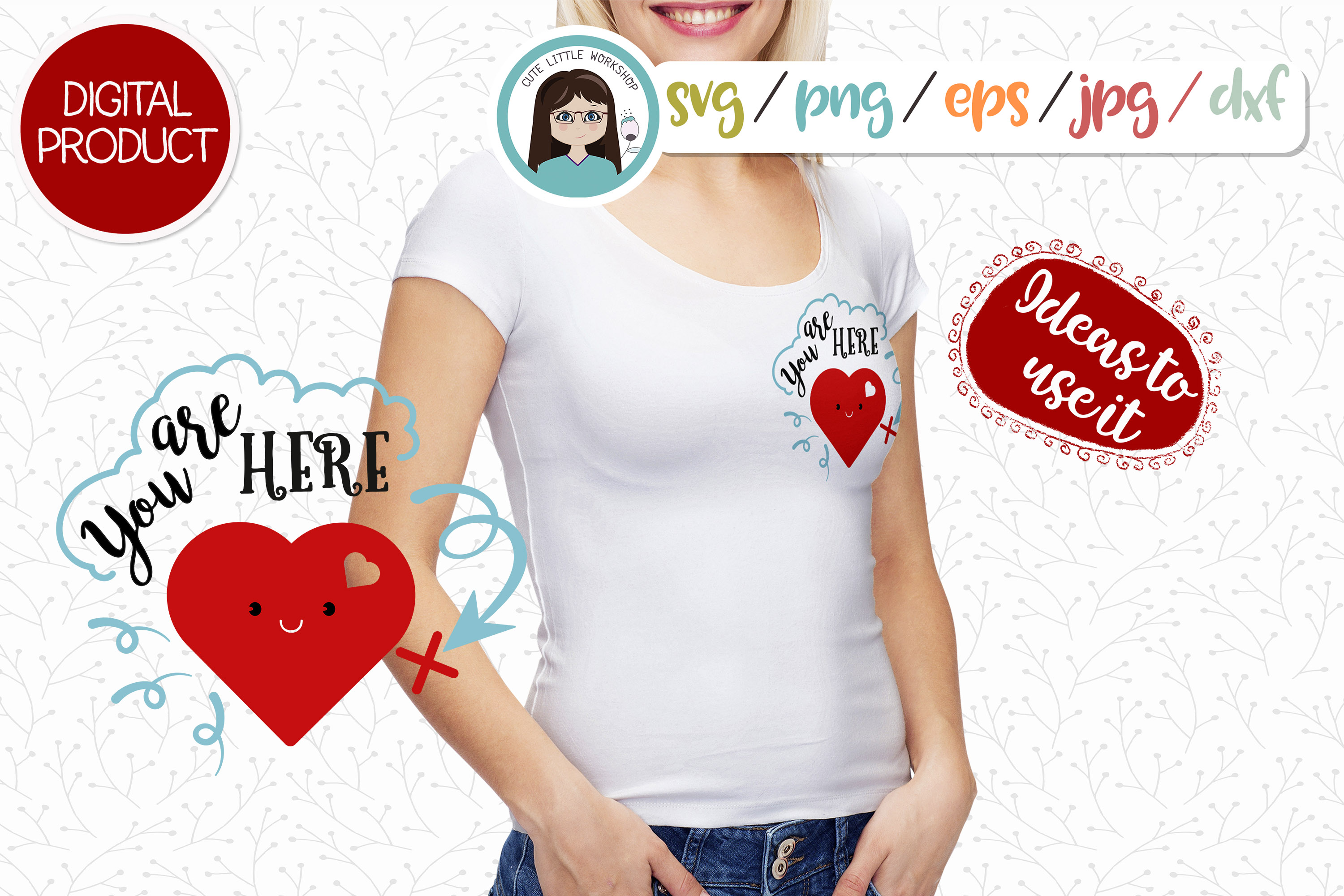 LOVE, Valentines svg, dxf, png, eps example image 3