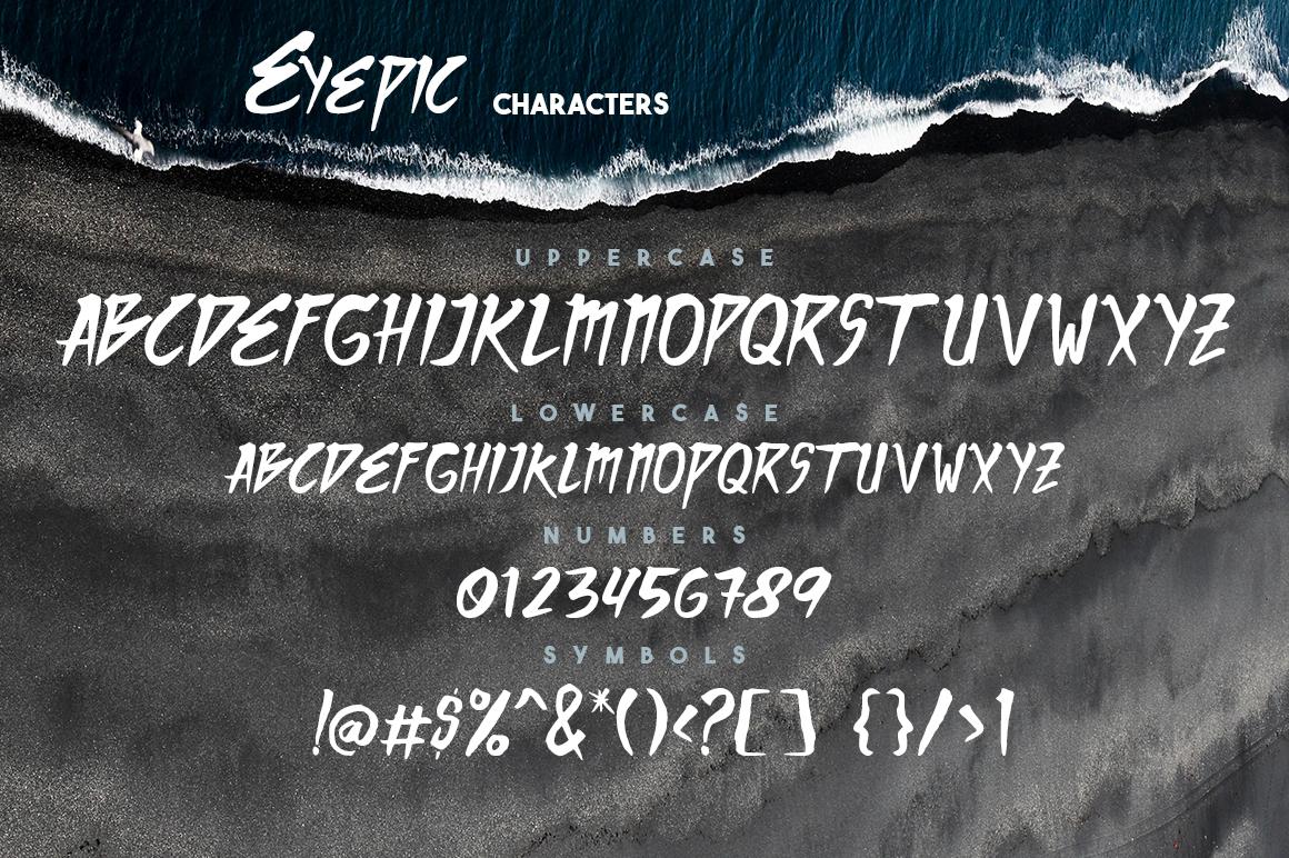 Eyepic Typeface example image 2