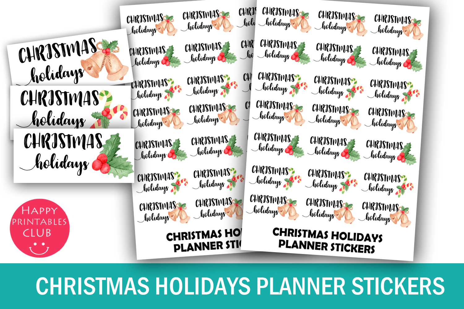 Christmas Planner Stickers Bundle- Holiday Stickers Bundle example image 5
