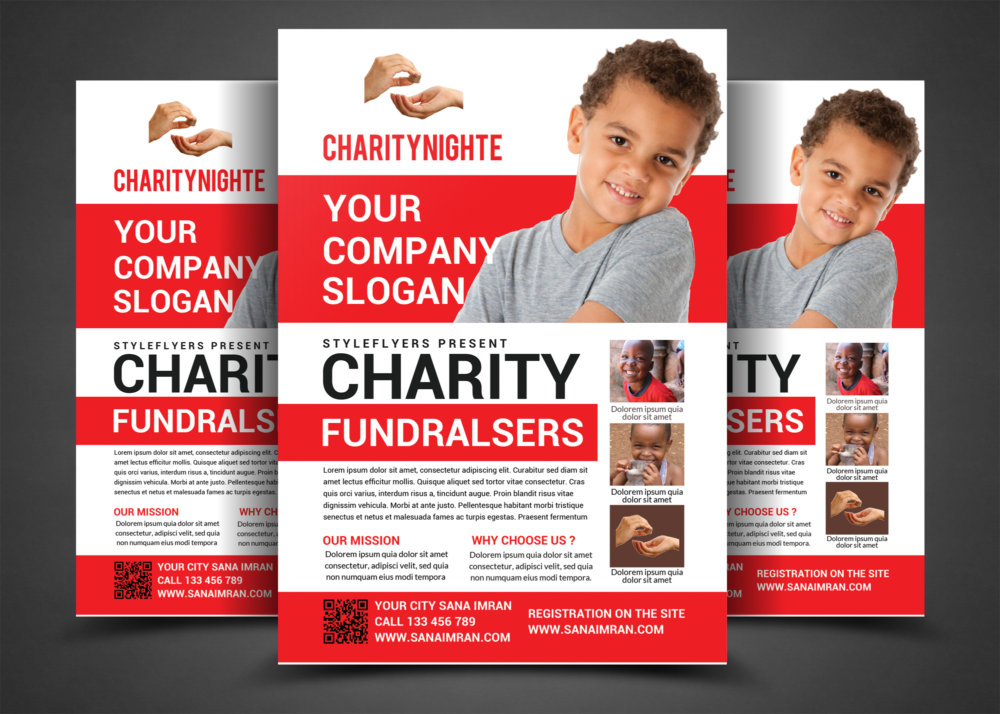 Charity Night Fundraisers Flyer example image 2