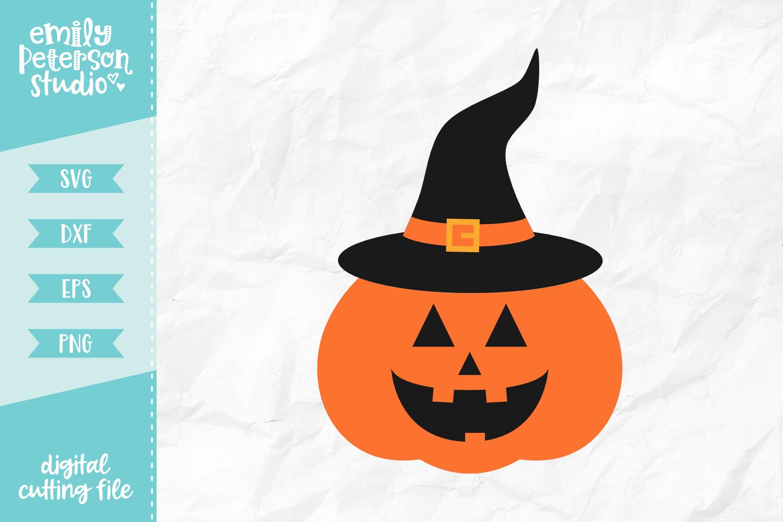 Jack o' Lantern Witch SVG DXF EPS PNG example image 1