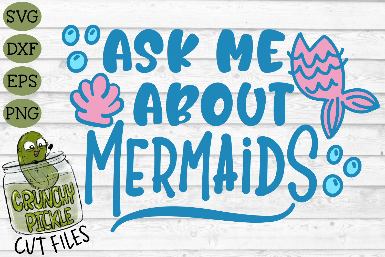 Ask Me About Mermaids SVG example image 2