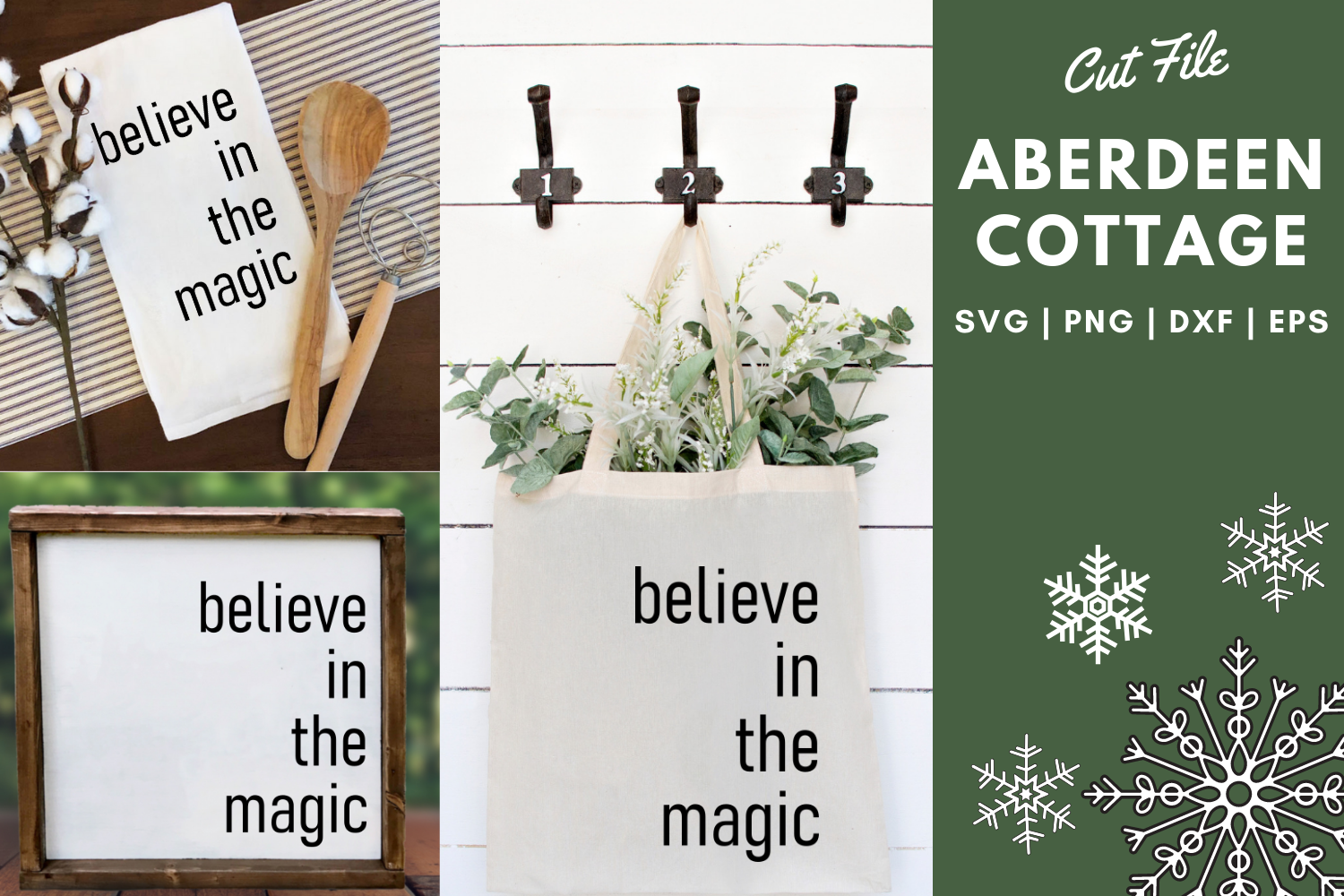 Believe In The Magic of Christmas 2 SVG   PNG   DXF   EPS example image 1