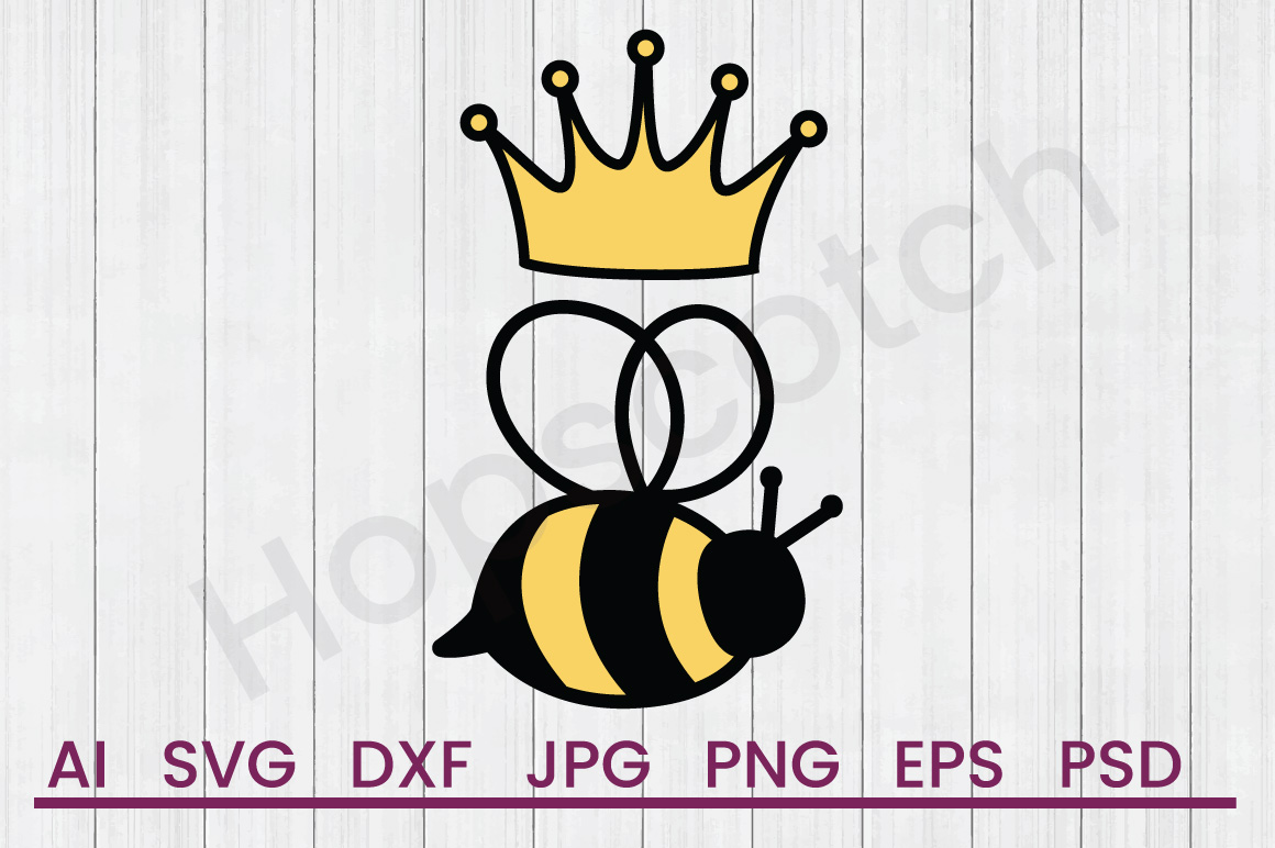 King Bee SVG, DXF File, Cuttatable File example image 1
