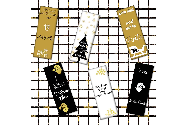 Christmas Digital Bookmarks,Christmas Printable,Christmas example image 2