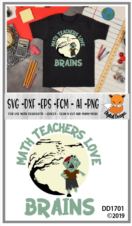 Download Math Teachers Love Brains Halloween SVG (363067)   Cut ...