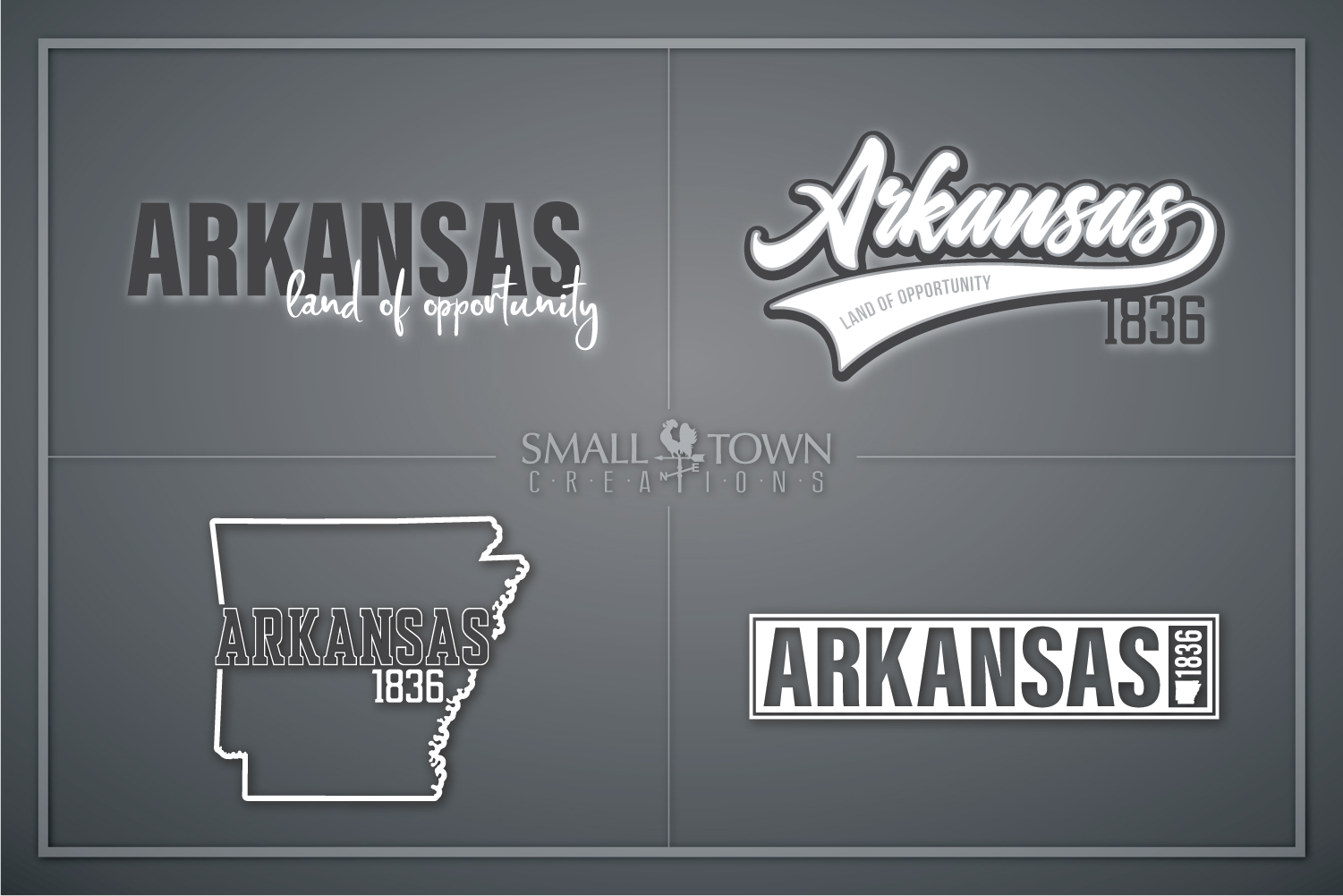 Arkansas, Land of Opportunity, Logo, PRINT, CUT & DESIGN example image 1