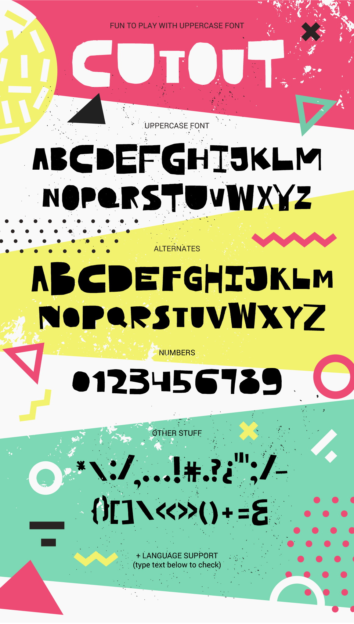 Cutout - bold uppercase font example image 8