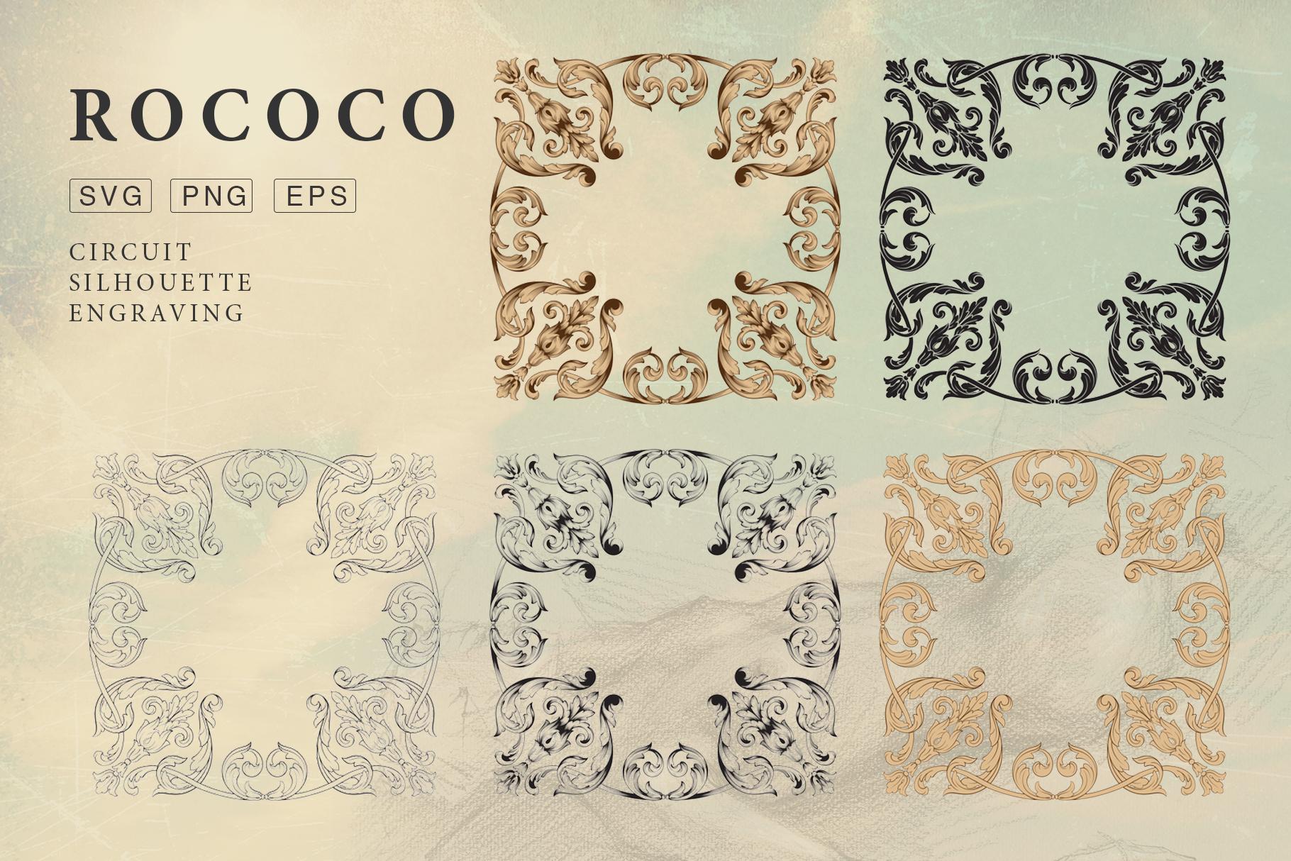 Rococo Romance Ornament page decor example image 8