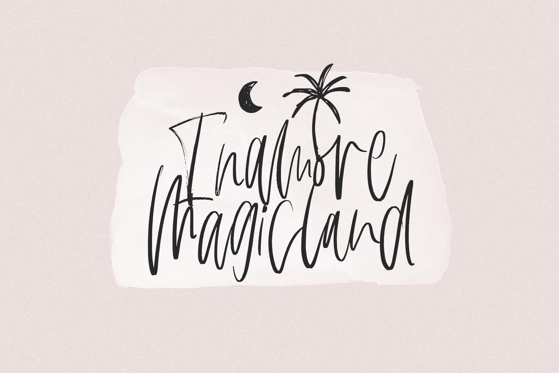 Hamor Island - Handwritten Script Font with Extras example image 12