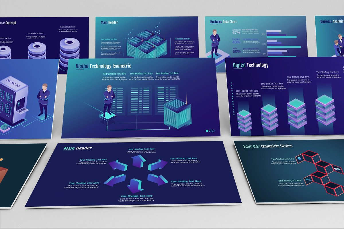 Smart Tech Keynote Template Small Pack example image 4