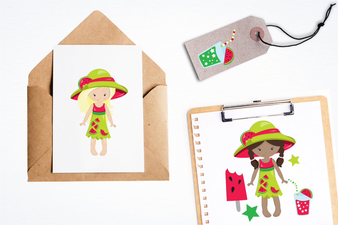 Watermelon Girls graphic and illustrations example image 3