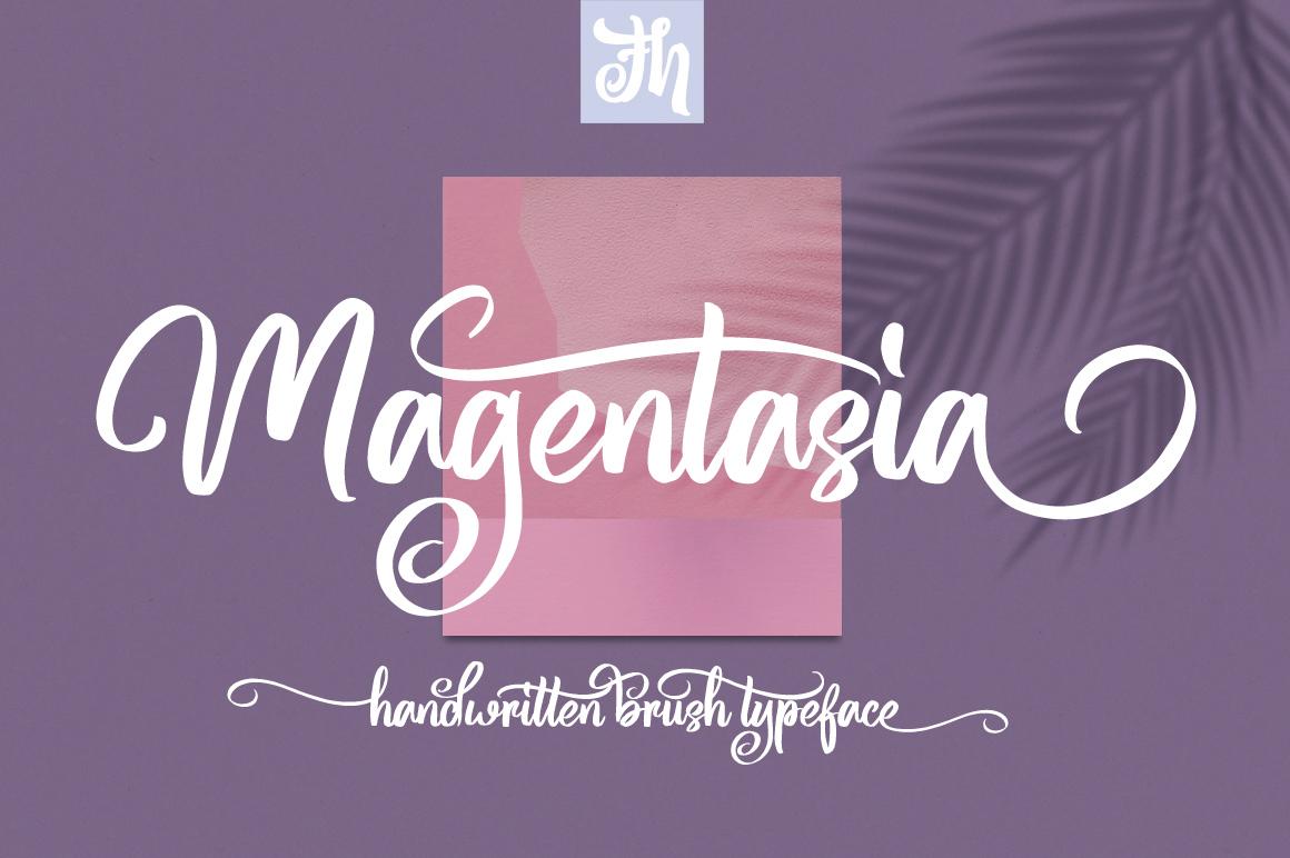 Magentasia - Handwritten Font example image 1