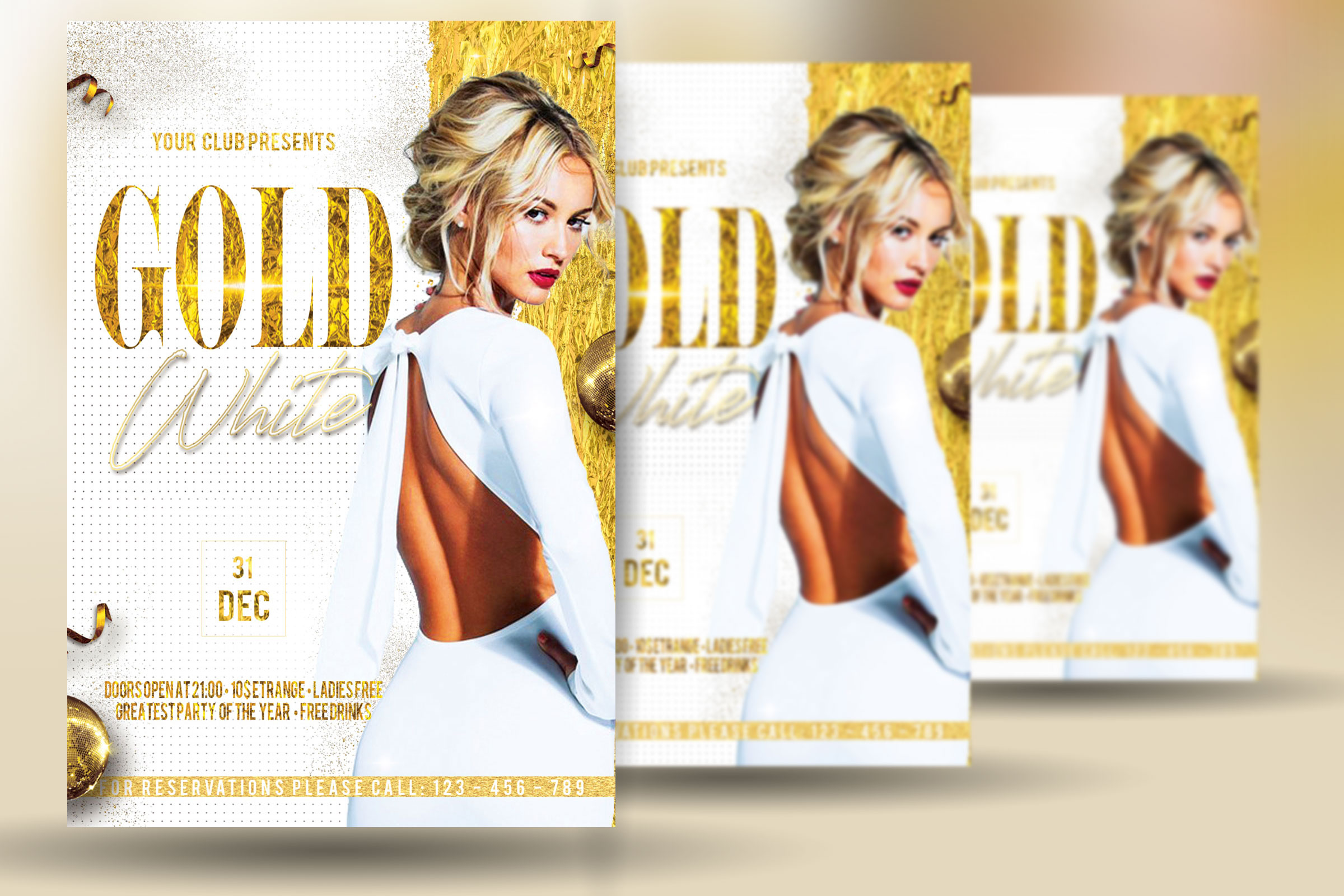 Gold And White Flyer example image 2