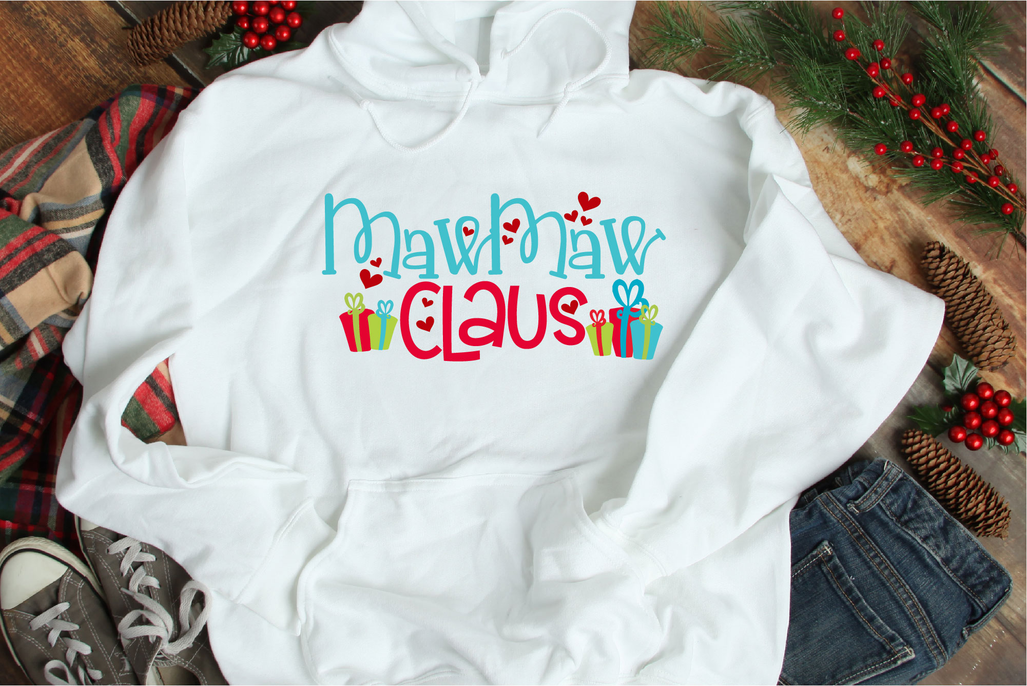 Christmas SVG, MawMaw Claus, Santa Claus Sublimation example image 1
