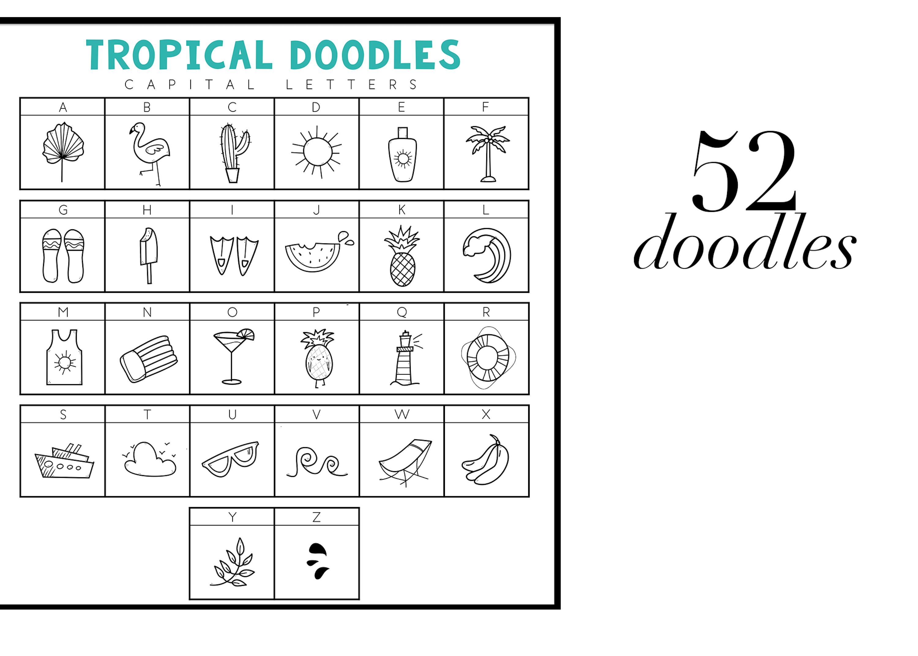 Tropical - A Tropical / Summer Doodle Font  example image 2