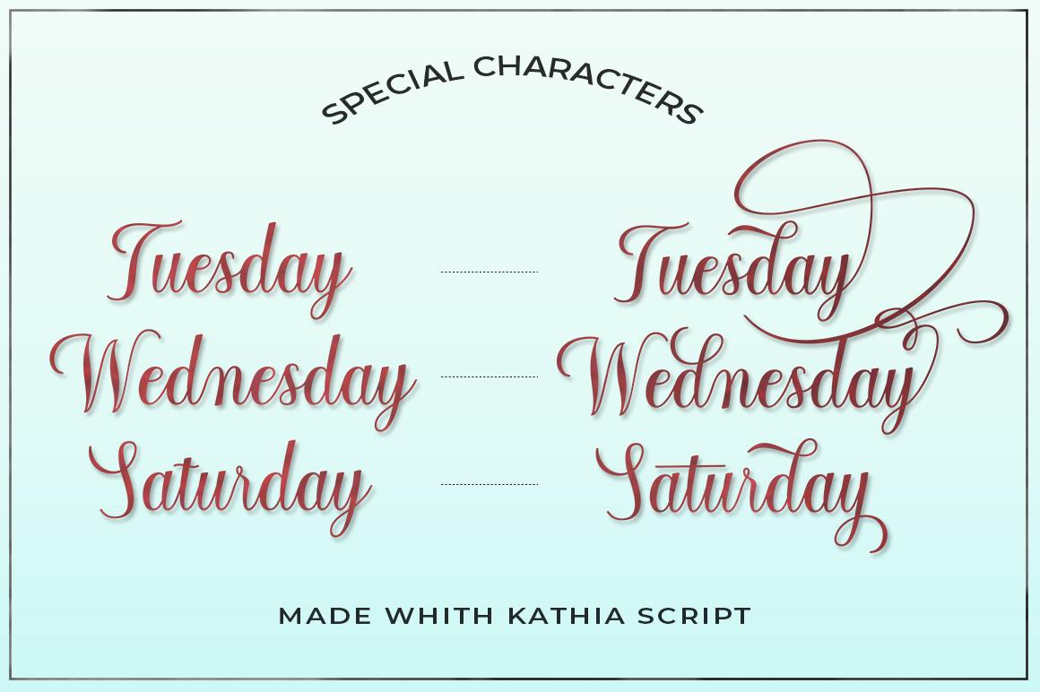 Kathia Script example image 5
